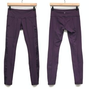 Lululemon Practice Daily Purple Leggings - Size 6